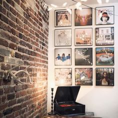 I want to use Fiance's records as art pieces so they don't sit and collect dust. Maybe create a giant record wall?