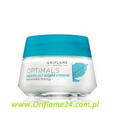 Optimals Smooth Out Night Cream - Krem na noc Optimals Smooth Out Oriflame. Odżywczy krem przeciwzmarszczkowy o działaniu ujędrniającym na noc. Wzmacnia elastyczność skóry. Zawiera opatentowaną technologię antyoksydantów Lingon 50:50™, która chroni skórę przed negatywnym wpływem środowiska. Magnez wzmacnia strukturę skóry. Stosuj codziennie wieczorem. 50 ml