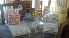 Great outdoor chairs at Lowcountry Consignments