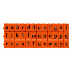 Mason Row Pegz Lowercase Alphabet Stamp Set