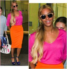 Beyoncé Tá Querendo Dizer Que O Colorblocking Voltou?