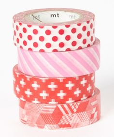 Look at this Lady in Red Washi Tape Set on #zulily today!