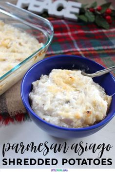 Upgrade your potato casserole to a gourmet side dish with Create this Parmesan Asiago Shredded Potatoes recipe today. Best Thanksgiving Recipes, Best Christmas Recipes, Christmas Food Gifts, Easy Salad Recipes, Candy Recipes, Side Dish Recipes, Cheap Side Dishes, Shredded Potatoes, Homemade Food Gifts