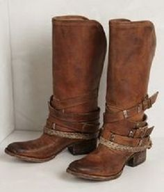 western riding boots with ankle straps