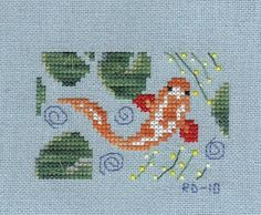 ♥. Free pattern. Follow this link to go directly to post she references: http://www.xstitchhappy.com/2008/07/another-day-another-chart-koi-pond.html