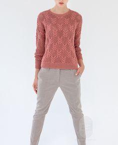 """Люди вяжут: Вяжем: Пуловер. """"Пуловер, связанный ажурным узором"""" с подробной…"""