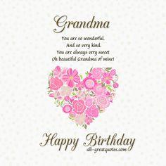 happy birthday dear grandma love and hugs birthday wishes