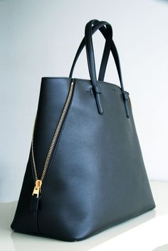 TOM FORD.  Jennifer Trap Calfskin Tote Bag.  $1990