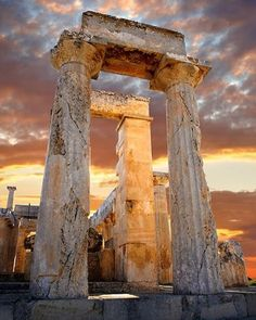 Greek temple ruins, decaying in Aegina Island, Greece. Photograph by ©Paul Williams #AbandonedEarth