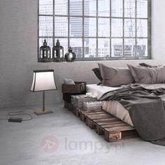 Z abażurem - duża lampa stołowa LED Fancy 6026575