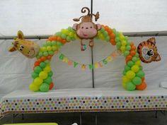 Safari baby shower#decoration#animals | Balloon archs/ Arco con globo…