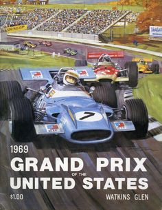 1969 US Grand Prix Watkins Glen Race Program Jochen Rindt Lotus 49 Wins