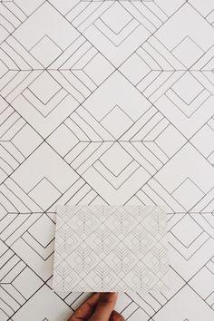 31 Ideas Geometric Art Deco Shape For 2019 Geometric Patterns, Floor Patterns, Geometric Lines, Line Patterns, Geometric Designs, Textures Patterns, Simple Geometric Pattern, Motif Art Deco, Art Deco Design