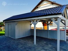Timber Garage, Garage House, Pergola, Household, Room Decor, Car Ports, Outdoor Decor, Gardens, Projects