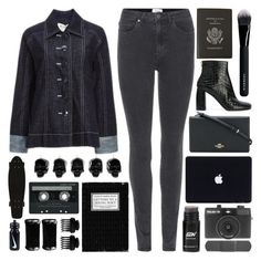 """""""It's a new beginning 'cause I won't ever look back"""" by pure-and-valuable ❤ liked on Polyvore featuring Acne Studios, STELLA McCARTNEY, Coach, Holga, Smythson, Givenchy, D.L. & Co., CASSETTE, T3 and NIKE"""