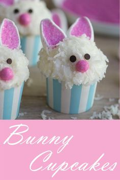 Looking for Easy Easter Bunny cupcake ideas for kids? These Easter Bunny Cupcakes are really easy to make and taste so delicious Easter Snacks, Easter Brunch, Easter Party, Easter Treats, Easter Recipes, Desserts For Easter, Easter Deserts, Bunny Party, Easter Food