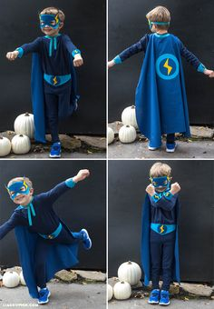 Homemade Halloween Costumes - Superheros. Superhero Costumes For KidsDiy ... & No Sew SUPER HERO COSTUMES Tutorial | Pinterest | Hero costumes ...