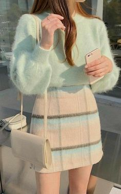 Hipster Outfits, Kpop Fashion Outfits, Girls Fashion Clothes, Winter Fashion Outfits, Korean Outfits, Mode Outfits, Girly Outfits, Cute Casual Outfits, Look Fashion