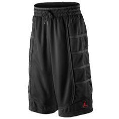 Jordan Retro 11 Short - Men's - Basketball - Clothing - Black/Black/Gym Red