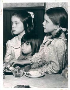 """""""Little House On The Prairie"""" - The Ingalls sisters: Mary, Carrie, and Laura"""