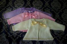 Baby Cardigan Pompon-baby cardigan-baby van TheBabyRose op Etsy