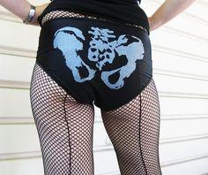 Black with Silver Ink Pelvis Bones Roller by knickerockeroller, $24.00