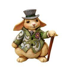 Jim Shore for Enesco Heartwood Creek Mini Rabbit Figurine