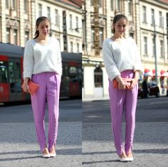 Adela S. - H&M Lilac Pants - I'm waiting for the man