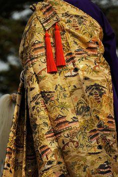 Traditional costume for priests, Kesa robe 袈裟: Taima Temple at Nara, Japan 當麻寺 奈良