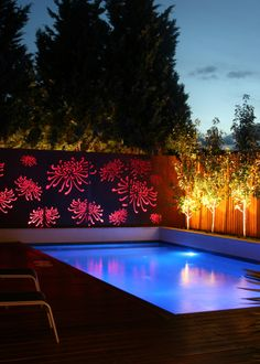 Exterior Lighting Ideas Nothing has refreshed the look of your home like new exterior lights. At Lamps Plus, we provide complete exterior lighting for porches, decks and landscaped areas that c… Cool Swimming Pools, Best Swimming, Swimming Pool Designs, Exterior Lighting, Outdoor Lighting, Outdoor Decor, Lighting Ideas, Outdoor Pool, Ideas De Piscina