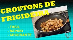 CROUTONS DE FRIGIDEIRA Dog Food Recipes, 1, Beef, Side Dishes, Dishes, Pet Food, Food For Dogs, Grill Skillet, Recipes
