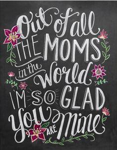 50 Mothersdaycards on HappyMakersBlog.com - chalkboardlettering Lilyandval
