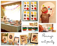 Awesome art-themed 3 year old party, and great examples of making a video for each year!
