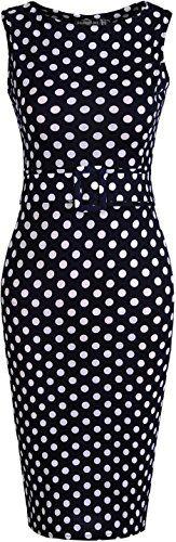 jeansian Women's Polka Dot Sleeveless Gowns Bodycon Pencil Dresses WKD180 - http://darrenblogs.com/2016/01/jeansian-womens-polka-dot-sleeveless-gowns-bodycon-pencil-dresses-wkd180/