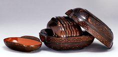 Lacquer Cups w/ Storage Box, Western Han Dynasty