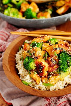 Lighter Sesame Chicken ... Made this tonight and my husband loved it and he its not a big fan of stir-fry our white rice but had seconds. This is a must try