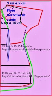 El Rincon De Celestecielo: Trazo delantero de manga enteriza, quimono o japonesa. Parte 2