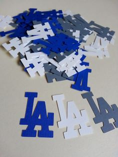 Los Angeles Dodgers Jumbo Table Confetti 100 Pieces Birthday Graduation Setting