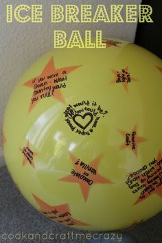 Ice Breaker Ball. Grab a big bouncy ball, write questions all over it. Pass it around and what ever question your right hand pointer finger touches you have to answer.