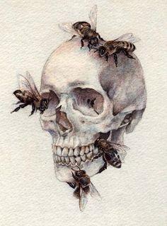 Skull & Bees artwork