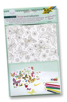 Designkarten zum Ausmalen und Verschenken. Mehr unter https://www.folia.de/epaper/folia_neuheitenkatalog_2016/catalog_5920639/#/6