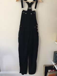 90s Women's Vintage Black DKNY Jeans Overalls, size M , carpenter pants, coveralls by LoredanasVintage on Etsy