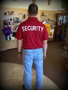 Club Rodeo has their Security shirts embroidered now thanks to PIC!