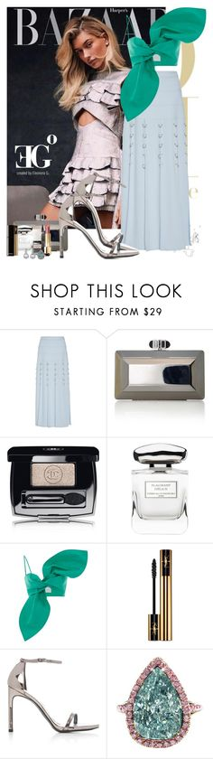 """""""Flair flare"""" by eleonoragocevska ❤ liked on Polyvore featuring Prabal Gurung, Chanel, By Terry, Leal Daccarett, Yves Saint Laurent, Stuart Weitzman and J. Birnbach"""