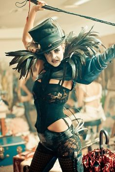 If strippers went Apocalyptic-Burlesque. Not certain this fits in our world, but it is certainly an intriguing look.
