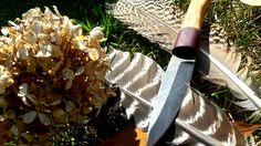 Custom Handle For A Hand Forged Damascus Blade Bushcraft Essentials, Damascus Blade, Custom Knives, Handle, Door Knob, Handmade Knives