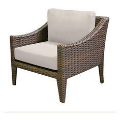 TK Classics Manhattan Wicker Outdoor Club Chair - Set of 2 Cushion Covers Beige - TKC035B-CC-BEIGE