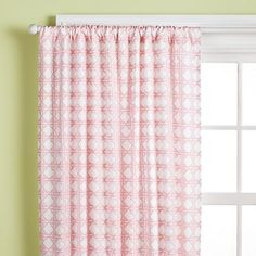 Lattice Curtain Panels (pink)