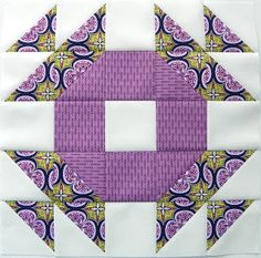 A Fabric Affair - Nice block and beautiful colors... This is put together the same as the crown of thorns block.