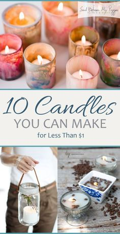 10 Candles You Can Make for Less Than 1 DIY Candles Candle Projects How to Make Your Own Candles DIY Candles Projects Natural Living Homemade Candles Popular Pin Homemade Candles, Diy Candles, Homemade Gifts, Ideas Candles, Candle Gifts, Decorative Candles, Making Candles, Teacup Candles, Natural Candles
